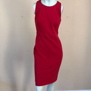 Vince Camuto Red Midi office Dress Size 8 US